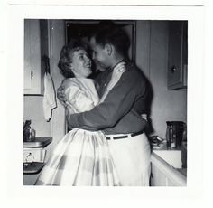 Romance in the Kitchen vintage photo Young by americathebeautiful