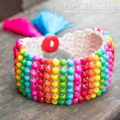 Crochet Boho Bead Br