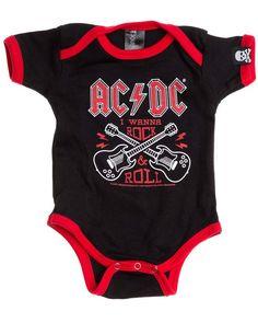 AC//DC Baby In Black Ringer Body von Sourpuss USA