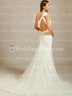Chiffon One-Shoulder Wedding Dress with Lace BC160N