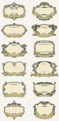 おしゃれなヴィンテージ飾り枠12種類
