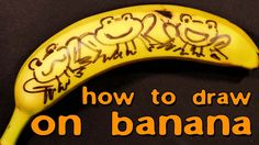 How to Draw on Banana the Snake and the Frog
