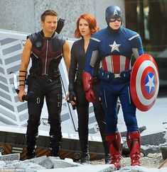 Those workouts have paid off! Smouldering Scarlett returns to form in skintight Avengers costume
