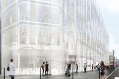 kazuyo sejima and ryue nishizawa of pritzker prize-winning studio SANAA have released plans for the redesign of la samaritaine, paris. Ibaraki, Wakayama, Kanazawa, Nagano, Yokohama, Sanaa, Westerns, Form Architecture, Ohio