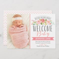 Baby Birth Announcement Ideas Thank You Cards Printing Model Architecture Baby Girl Birth Announcement, Announcement Cards, Birth Announcements, Baby Arrival Announcement, After Baby, Pregnant Mom, Baby Birth, First Time Moms, Baby Hacks
