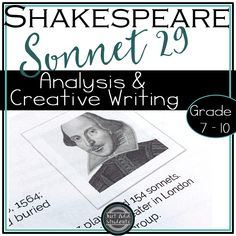 This post will help you teach the sonnet. Challenge your students to practice literary analysis and creative writing skills with this classic poem. Poems For Middle School, Student Self Assessment, Shakespeare Sonnets, Classic Poems, Homeschool High School, Homeschooling, Teaching 5th Grade, Middle Schoolers, Writing Poetry