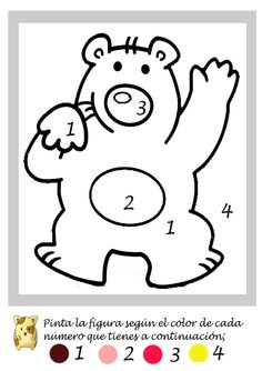 Colors by numbers Fall Preschool Activities, Preschool Education, Preschool Books, Preschool Learning, Kindergarten Math, Coloring Sheets, Coloring Books, Coloring Pages, Arte Elemental