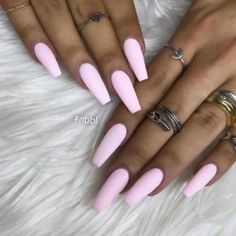 Thirsty for simple nails advice? Why not think on these totally easy peasy pin image reference 3030357937 today. Matte Pink Nails, Aycrlic Nails, Swag Nails, Manicure, Light Blue Nails, Grunge Nails, Cute Acrylic Nail Designs, Simple Acrylic Nails, Summer Acrylic Nails