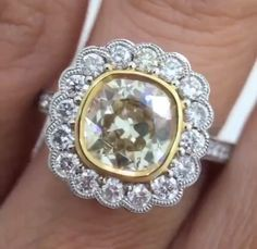 Cushion Cut, Cocktail Rings, Vintage Rings, Diamonds, Bling, Accessories, Jewelry, Jewel, Jewlery