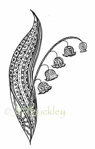 Zentangle Lily of the Valley - want to use these patterns in my mandala