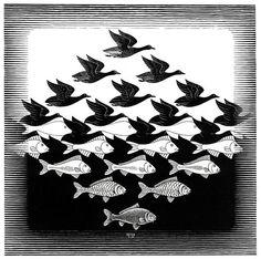 M.C. Escher - Air and Water