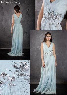 Boho Wedding dress - Bohemian wedding dress - Wedding dress - Wedding gown - Long silk engagement dress - Pleated dress silk boho style