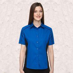 Ash City-North End-Fuse Ladies Color-Block Twill Shirts-77042