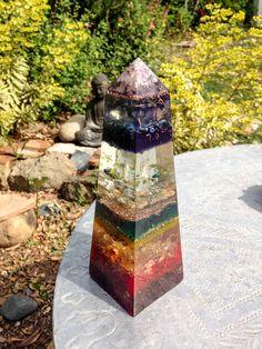 AUM !! Chakra Obelisk Violet Flame Orgone Alchemy