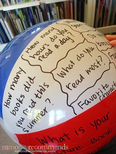 I like the idea of using a beach ball to ask and answer questions to get to know…