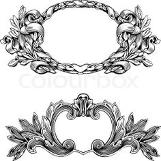 Vector of 'Antique Frame Engraving, Scalable And Editable Vector Illustration'