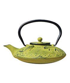 This Moss Green Cast Iron Teapot is perfect! #zulilyfinds