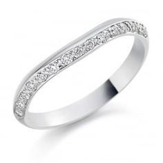 ac0f850fc Buy White Gold Diamond Shaped Wedding Ring by Charles Green from our Ladies  range - Ladies, White, White, Diamond, Diamond Set - @ Goodwins Jewellers