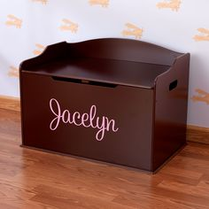Modern Touch Personalized Toy Box - Cherry | Dibsies Personalization Station