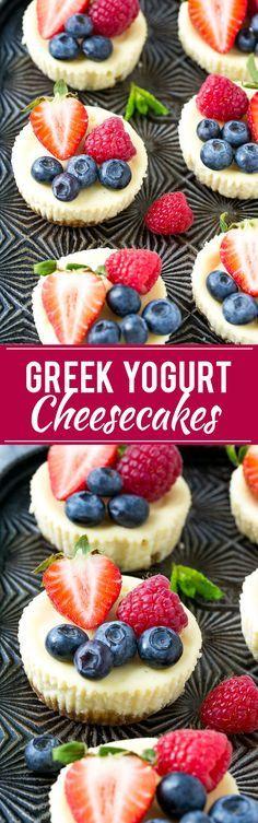 Greek Yogurt Cheesecakes