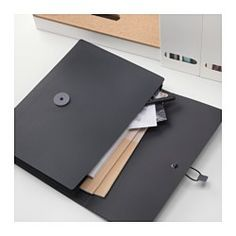 IKEA - FULLFÖLJA, Folder, Has 3 pockets that keep your papers organized and make them easier to find.Easy to open and close with the…
