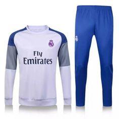 Chándal Real Madrid 2016 2017 Blanco Gris - Camisetas de Futbol Baratas e0cc113255689