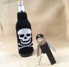 Pirate Corkscrew and Koozie Bundle