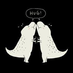 """Hug"" Art Print by Ilovedoodle on Society6."