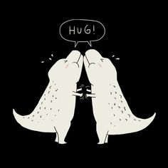 """Hug"" Art Print by Ilovedoodle on Society6."
