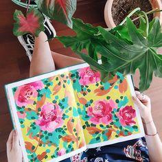 Sketchbook, pattern de rosas por Josefina Jiménez (@jojimenez) • Fotos y vídeos de Instagram Ted Baker, Instagram, Tote Bag, Bags, Roses, Handbags, Totes, Bag, Tote Bags