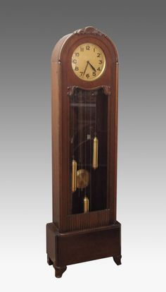 290: MAUTHE DECO GRANDFATHER CLOCK : Lot 290