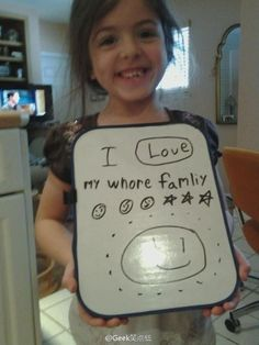 I love my whore famliy. So close, and yet . . .