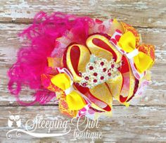 Get your little Princess ready for summer with this bright beauty! Its one of a kind and ready to ship!