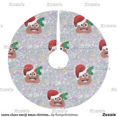 santa claus emoji xmas christmas tree skirt