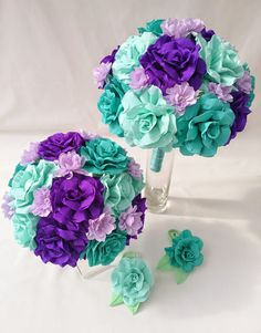 Crepe paper wedding flowers