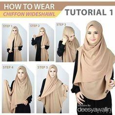 #chiffon #wideshawl #hijab tutorial