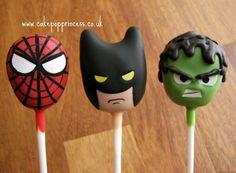 Superhero cake pops WOWZERS!!!!