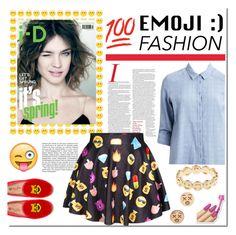 """Fun Emoji Fashion"" by abrar1 ❤ liked on Polyvore featuring VILA, Alison Lou, GoodWood and emojifashion"