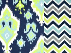 College Dorm Twin XL Bedding Reversible  Duvet and Sham in Chevron and Ikat on Etsy, $158.00