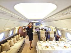 hostess on a corporate jet. This is the interior of an Airbus Not bad, eh? Jets Privés De Luxe, Luxury Jets, Luxury Private Jets, Private Pilot, Private Plane, Gulfstream G650, Airplane Interior, Luxury Helicopter, Luxury Sports Cars