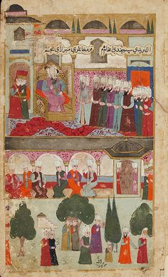 Topkapı Palace-Mehmed III's Coronation in the Topkapi Palace in 1595-Seyyid Lokman
