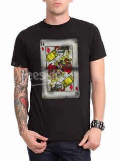 Harley Quinn Card Unisex Adult T Shirt - Get 10% Off!!! - Use Coupon Code 'TEES10'