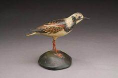 Elmer Crowell ruddy turnstone shorebird decoy circe 1910 - East Chatham, MA
