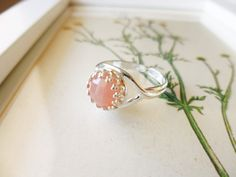 Apricot Agate Ring  Apricot Agate and Sterling by PoppyandGwyn