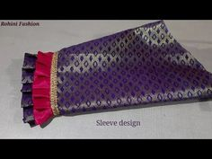 Beautiful sleeve design simple and easy method of stitching. to make sleeve design. Brocade Blouse Designs, Saree Tassels Designs, Patch Work Blouse Designs, Blouse Back Neck Designs, Sari Blouse Designs, Fancy Blouse Designs, Designer Blouse Patterns, Sleeves Designs For Dresses, Sleeve Designs