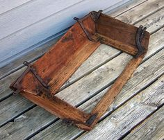 Antique Buckboard Seat - Wooden Pattern - Rustic And Primitive Wood Bench
