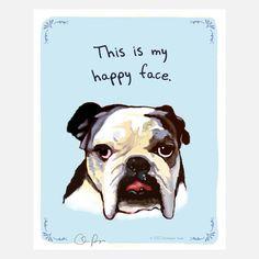 Happy Bulldog Poster