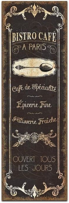 Bistro Cafe, Paris, A Wild Apple Art Print,