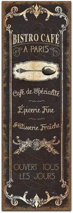 Bistro Cafe, Paris, A Wild Apple Art Print,