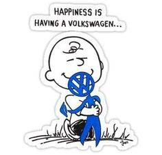 Happiness is two of my favorite things...Peanuts and VWs.